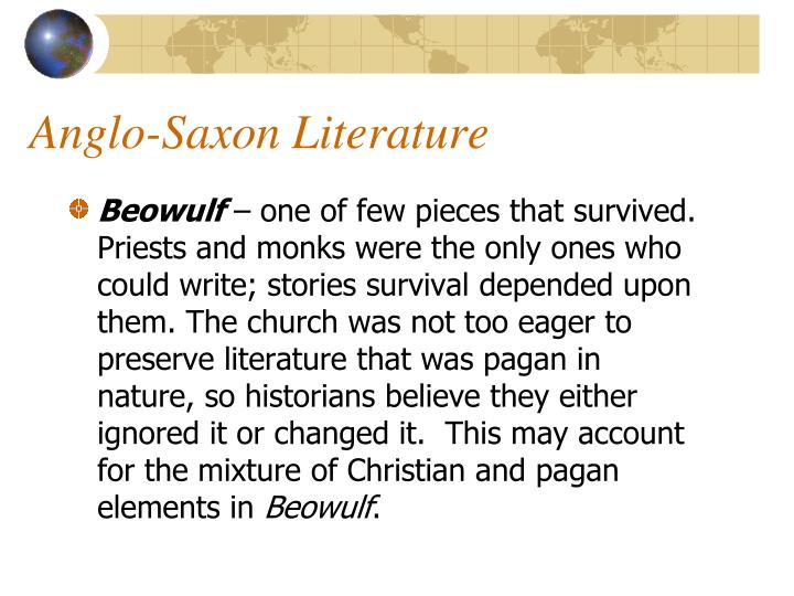 anglo saxon beliefs portrayed in beowulfs story