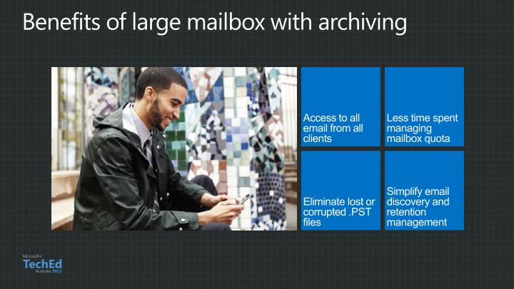 Benefits of large mailbox with archiving