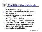 prohibited work methods
