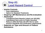 step 2 lead hazard control