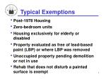 typical exemptions
