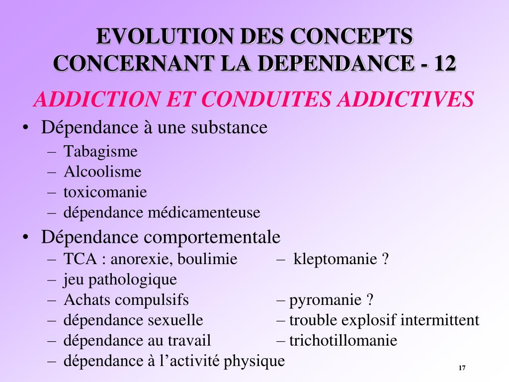 EVOLUTION DES CONCEPTS CONCERNANT LA DEPENDANCE - 12