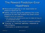 the reward prediction error hypothesis
