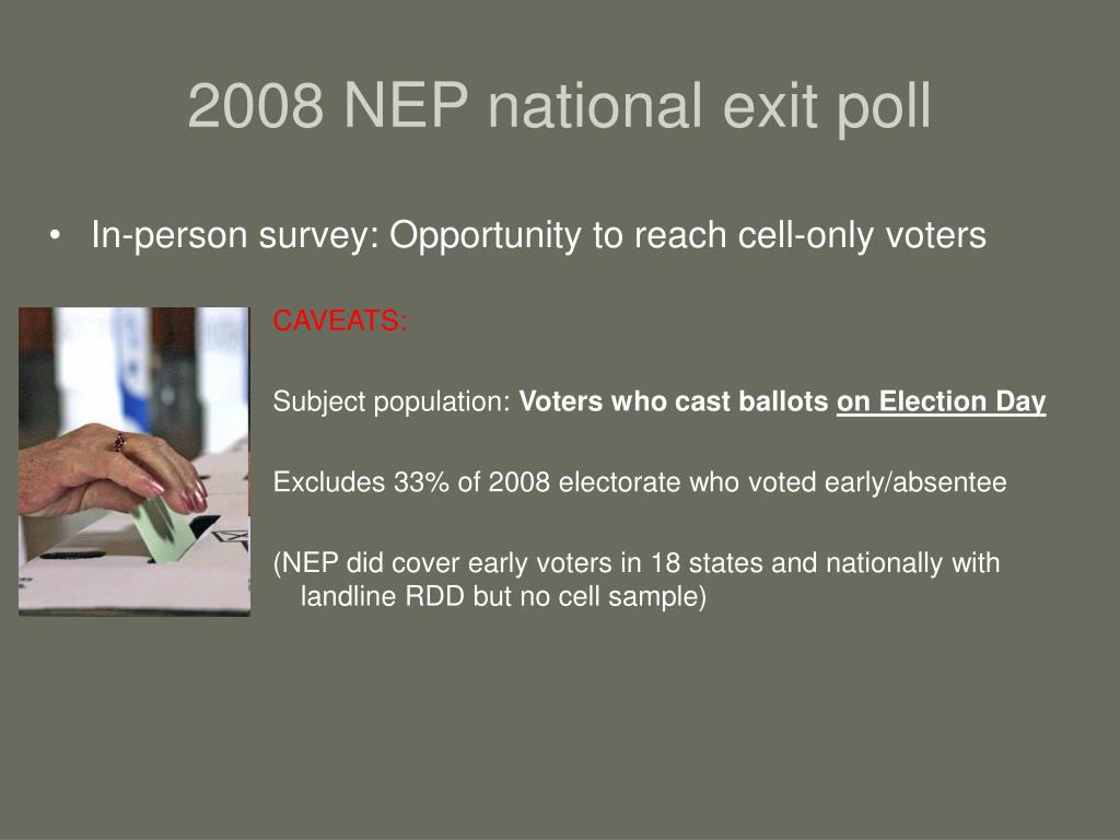 2008 NEP national exit poll