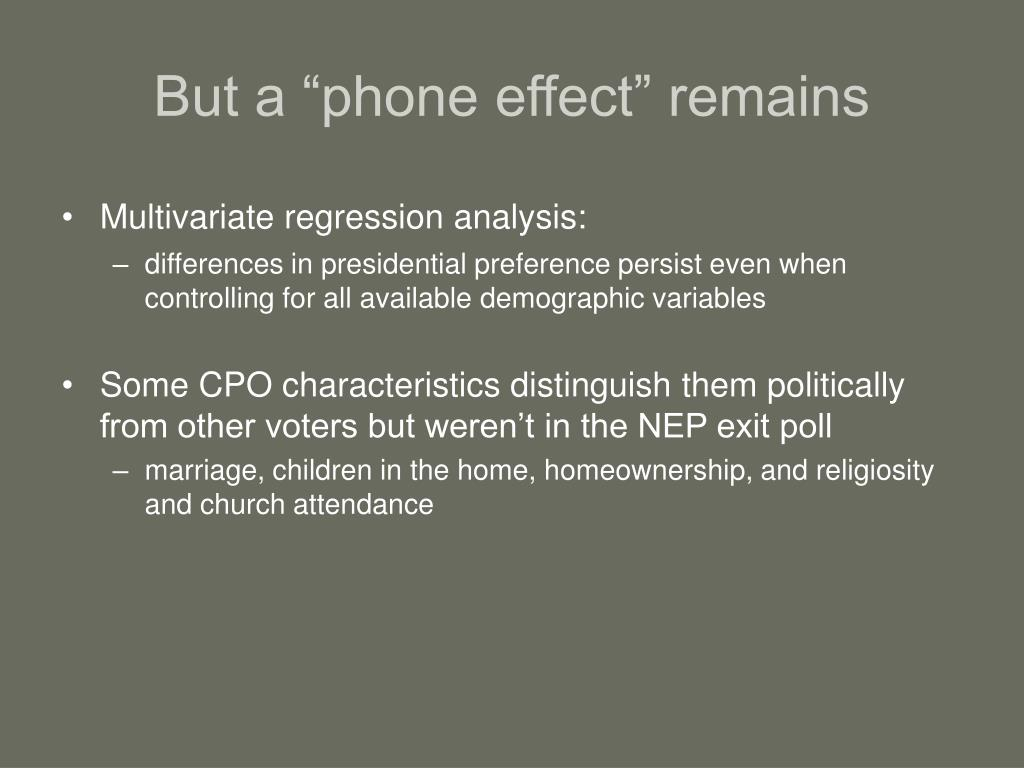 """But a """"phone effect"""" remains"""