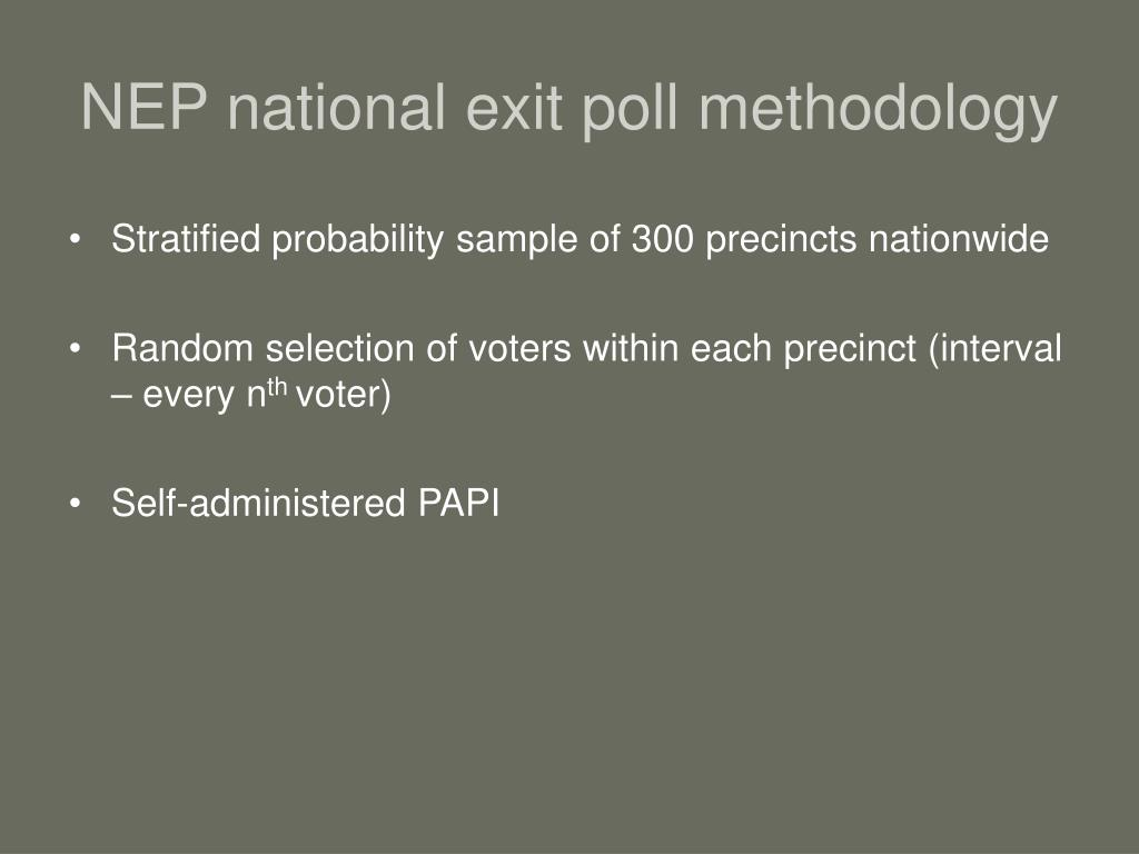 NEP national exit poll methodology