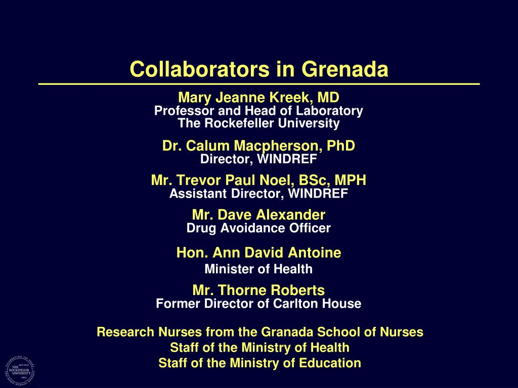Collaborators in Grenada