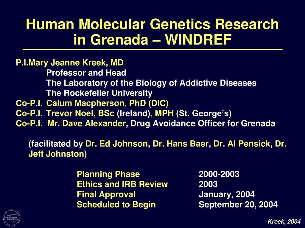Human Molecular Genetics Research in Grenada – WINDREF