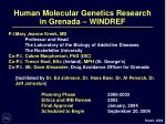 human molecular genetics research in grenada windref