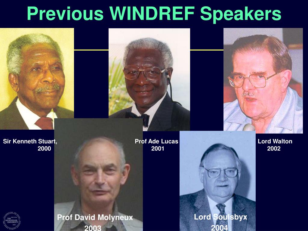 Previous WINDREF Speakers