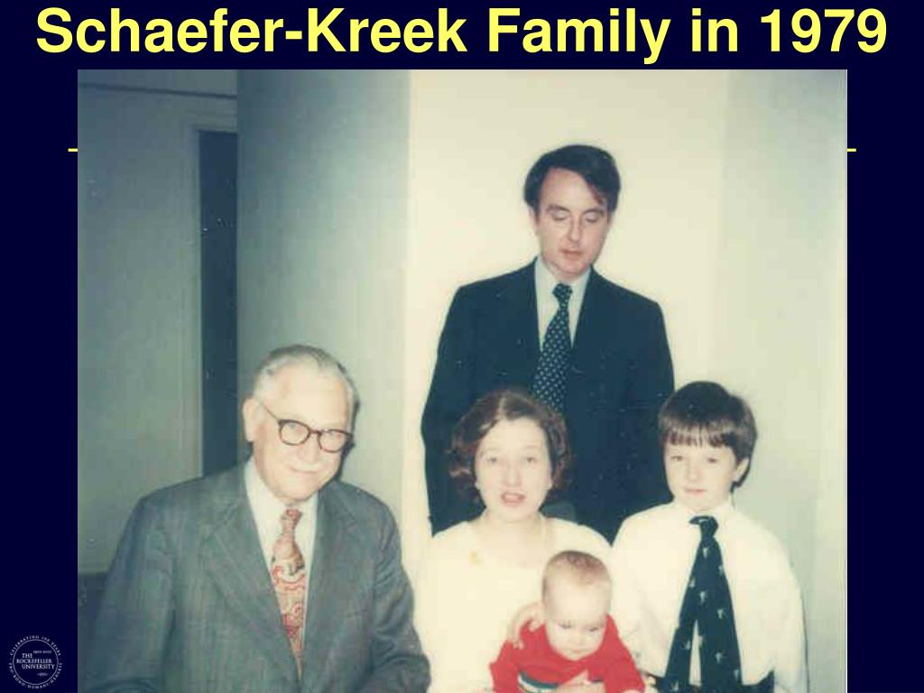 Schaefer-Kreek Family in 1979