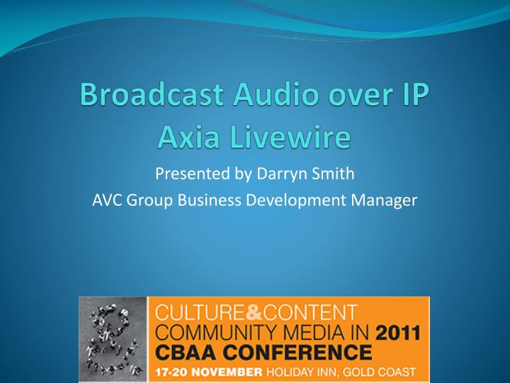 broadcast audio over ip axia livewire n.