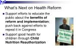 what s next on health reform11