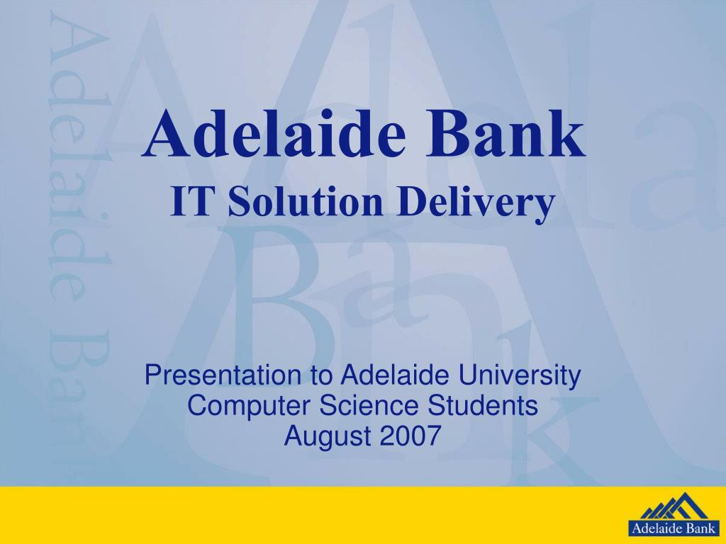 adelaide bank it solution delivery l.
