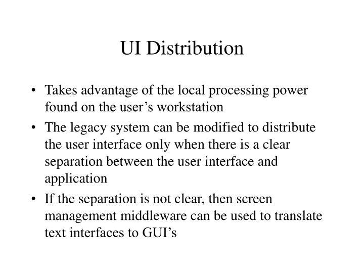 UI Distribution