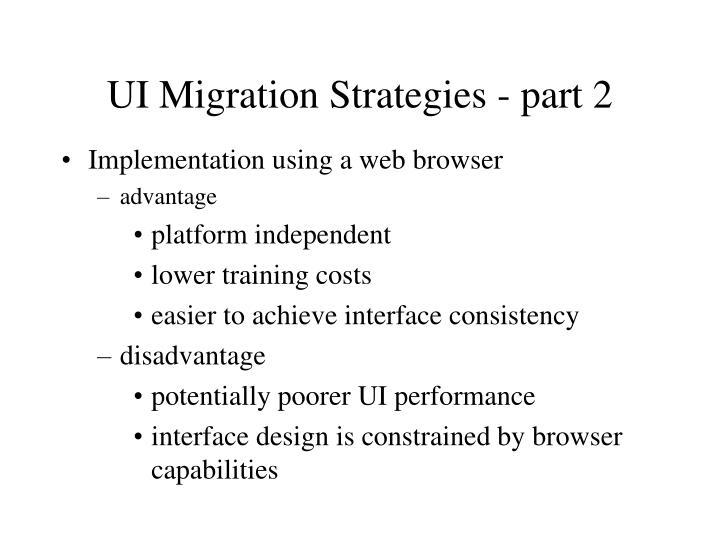 UI Migration Strategies - part 2