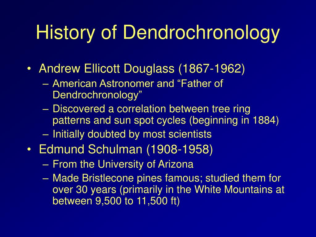 History of Dendrochronology