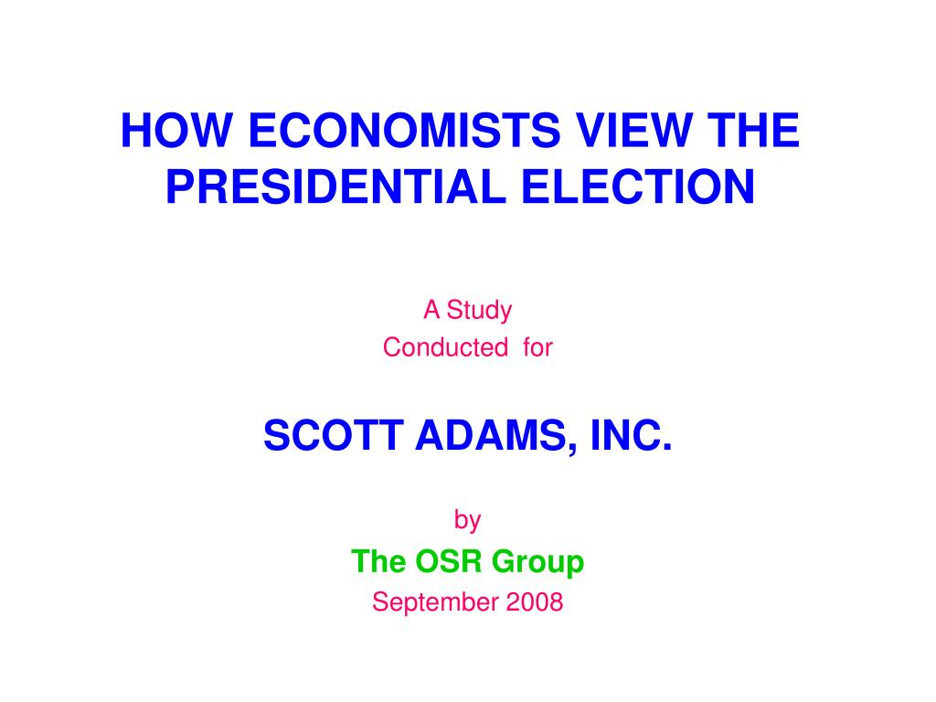 how economists view the presidential election l.