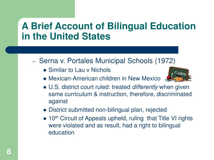 the anti bilingual education measure The anti-bilingual education measure 7 pages 1638 words first example is a clause in the measure that allows maximum of a year for sheltered english immersion the critics dismiss it as confusion over speech fluency and academic fluency in english.