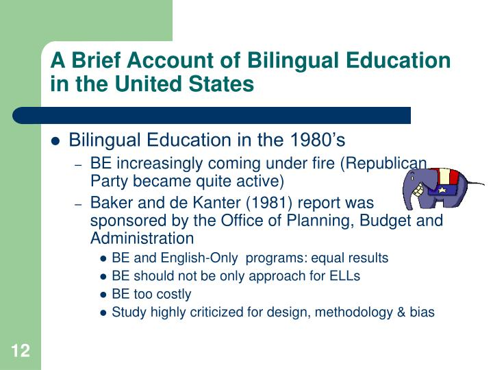 bilingual education 5 essay Bilingual education programs have been implemented for decades non-english speaking students in bilingual education programs, however, have shown no academic or social improvement compared to similar students in english-only schools the disadvantages of bilingual education programs outnumber the.
