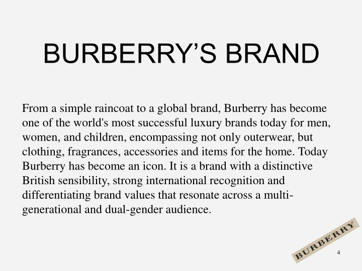 BURBERRY'S BRAND
