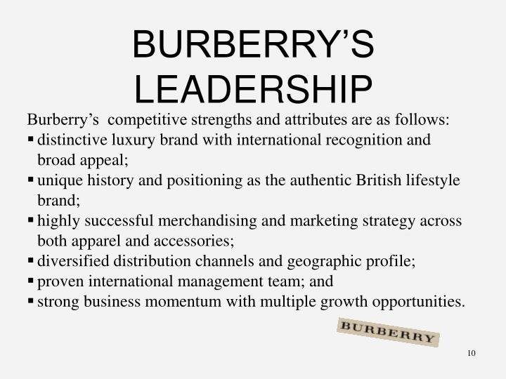 BURBERRY'S LEADERSHIP