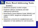 basic rural addressing tasks cont