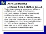 rural addressing distance based method cont5