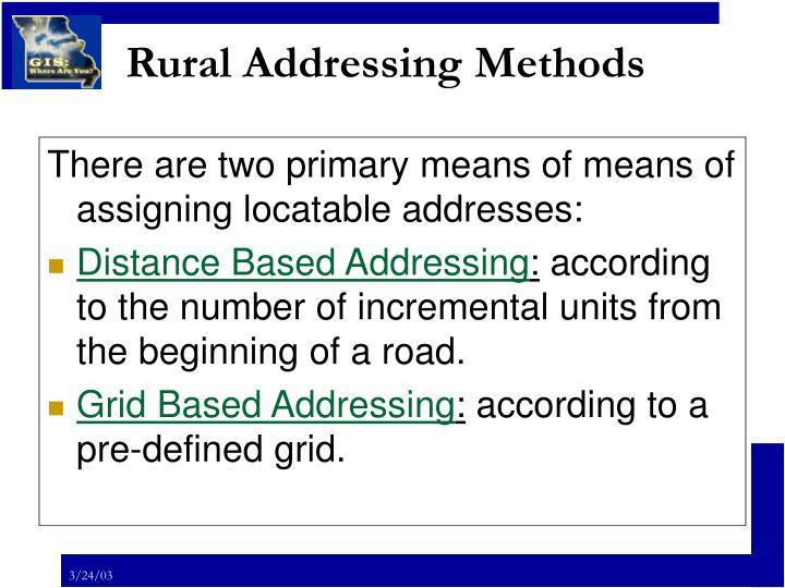 Rural addressing methods2