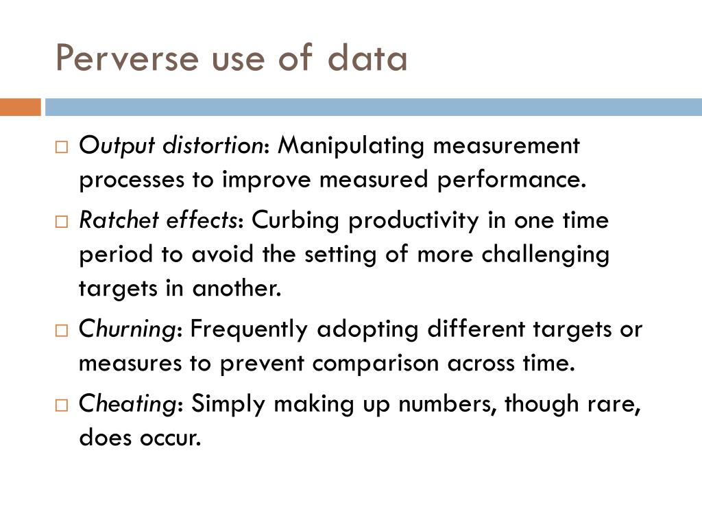 Perverse use of data