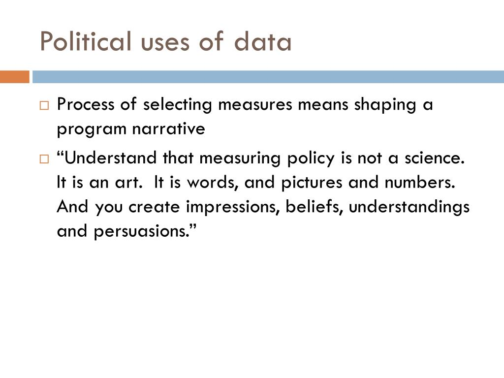 Political uses of data