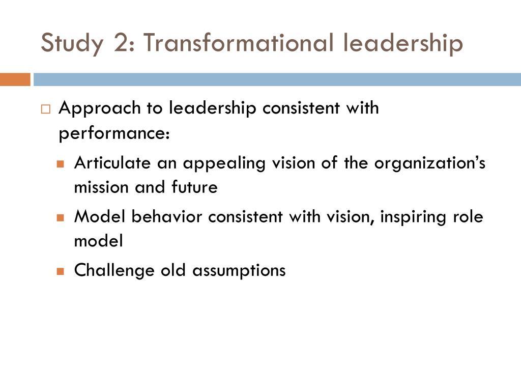 Study 2: Transformational leadership