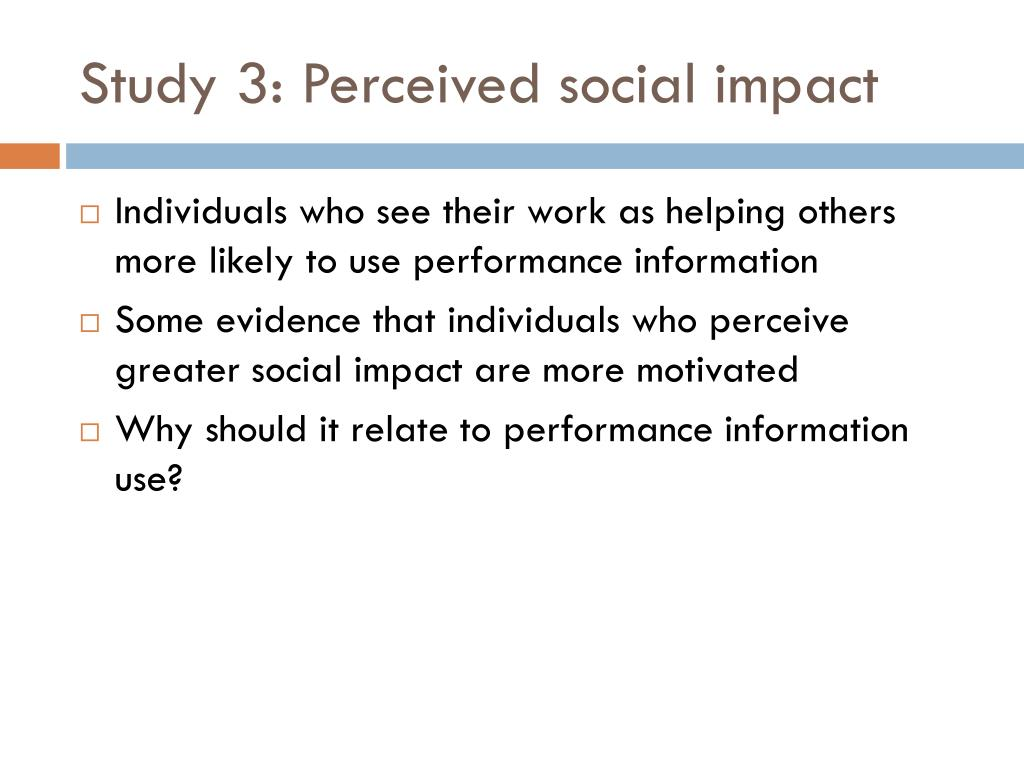 Study 3: Perceived social impact