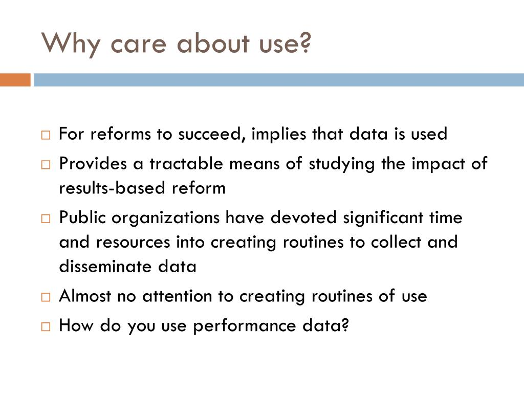 Why care about use?