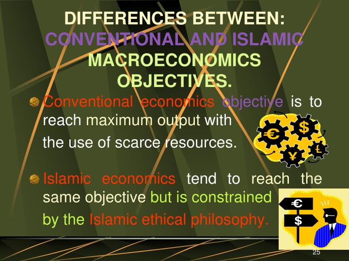 objectives of islamic economics Umer chapra a booklet on the nature, main features and objectives of the islamic economic order, discusses universal brotherhood, justice, equitable.