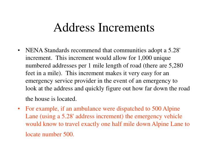 Address Increments