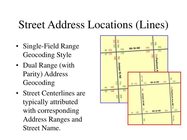 Street Address Locations (Lines)