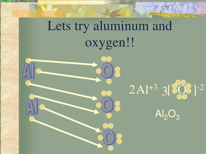 Lets try aluminum and oxygen!!