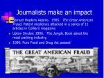 journalists make an impact
