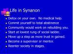 life in synanon
