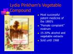 lydia pinkham s vegetable compound