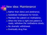 new idea maintenance