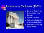 robinson vs california 1963