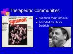 therapeutic communities