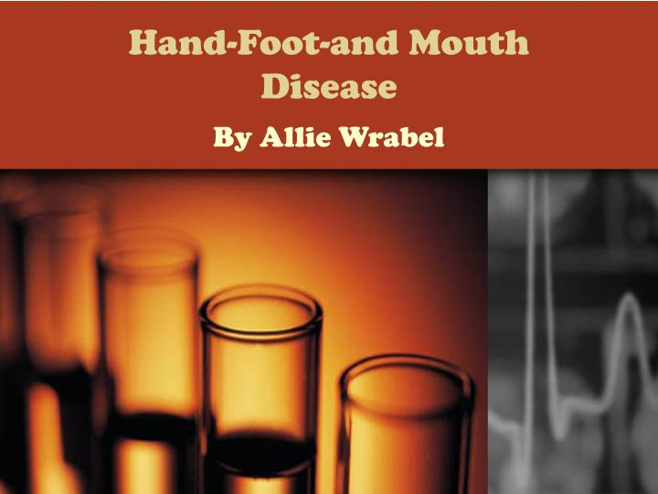 hand foot and mouth disease n.