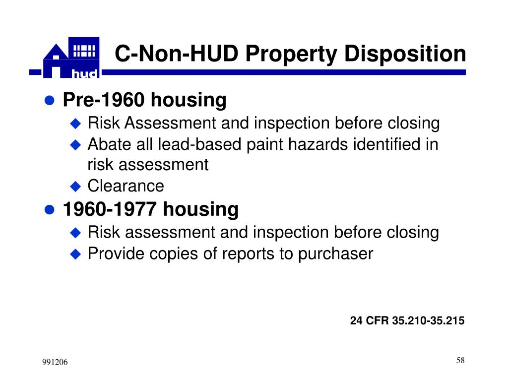 C-Non-HUD Property Disposition
