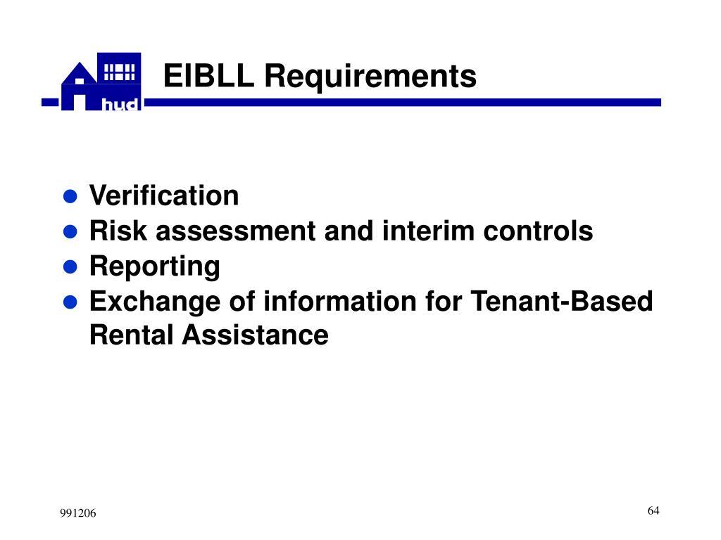 EIBLL Requirements