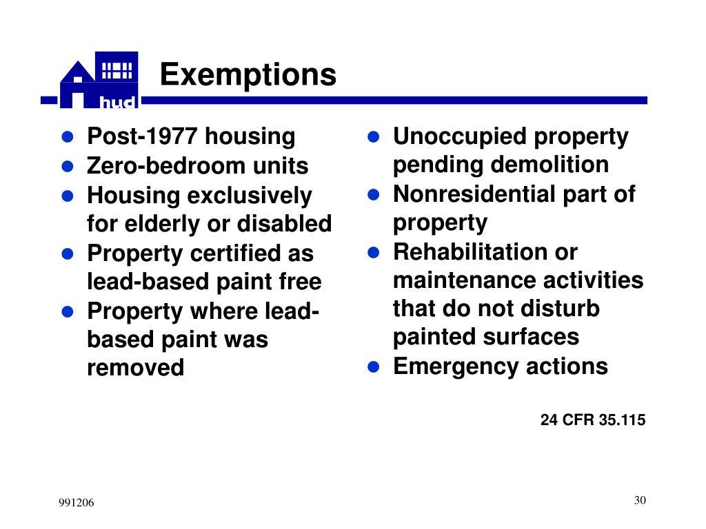 Post-1977 housing