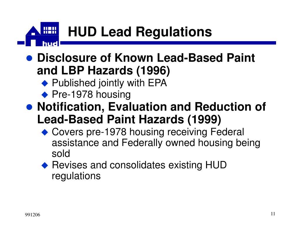 HUD Lead Regulations