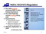 hud s 1012 1013 regulation